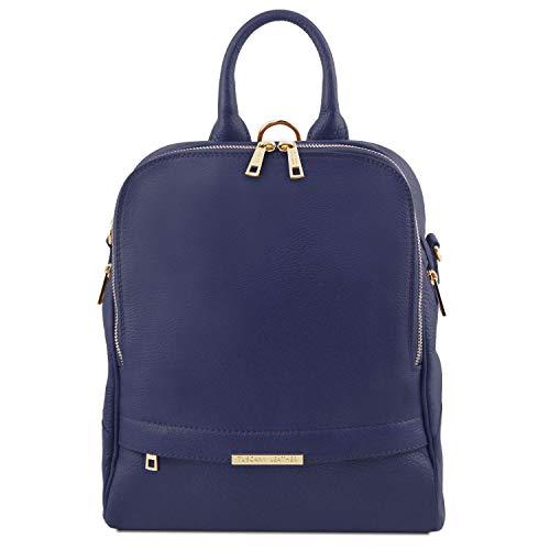 pour Cuir Souple foncé Dos Sac Foncé Bleu Leather à Tuscany Bleu Femme TLBag en aSw4w1