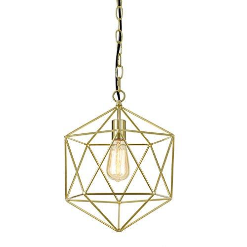 AF Lighting 9129-1H Brushed Gold Bellini One-Light Chandelier,