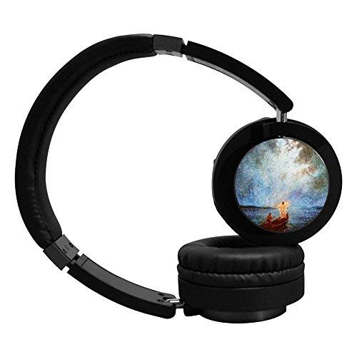PeKnt Christiana Wireless Bluetooth Headphones Stereo Over-ear Fold Earphone Black