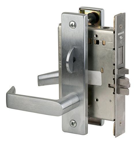 (Schlage L9453P 06L 626 C123 Keyway Series L Grade 1 Mortise Lock, Entrance Function, C123 Keyway, 06L Design, Satin Chrome Finish)