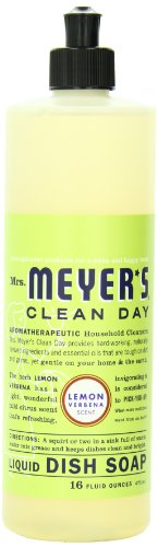 Mrs. Meyer's Clean Day Dish Soap, Lemon Verbena, 16-Ounce Bottles (Case of 6)
