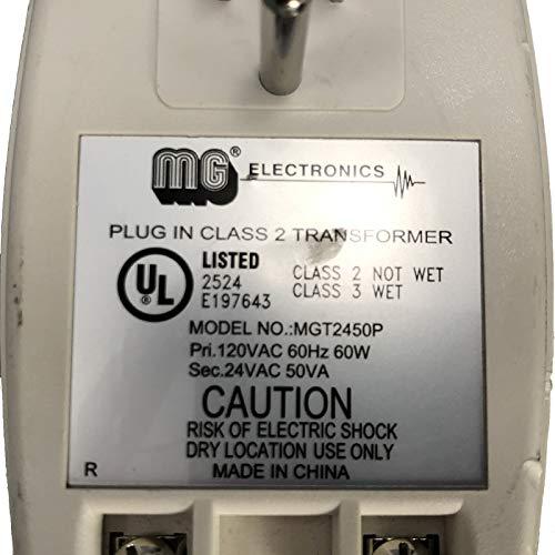 MG ELECTRONICS MGT2450P CLASS 2 TRANSFORMER 24VAC