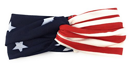 Usa Turban Knot (Sidecca American Flag Twist Turban Knot Stretch Headband)