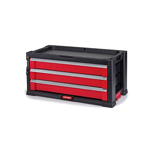 KETER 3 DRAWER TOOL CHEST PORTABLE TOOLBOX TOOL #17199302 by Ketec