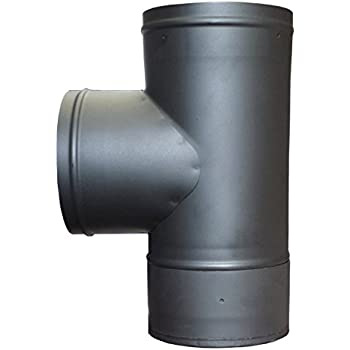 Single Wall Stove Pipe Tee And Clean Out Cap
