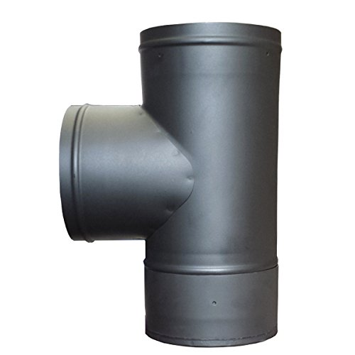 - 6in. Single Wall Stove Pipe Tee and Clean Out Cap