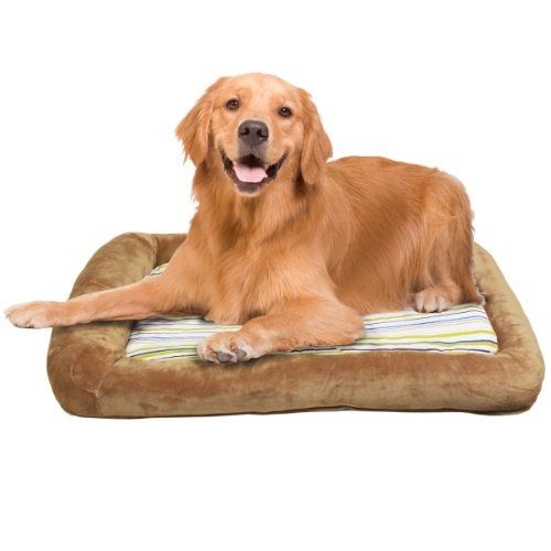 (Teafco Otto Memory Foam Bed with Heat Relief Padding, Latte,)