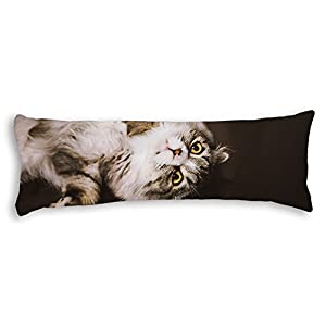 Cute Body Pillow Cases : Amazon.com: Veronicaca Cute Cat Custom Cotton Body Pillow Covers Pillow Cases 20