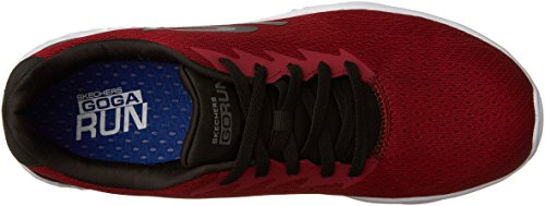 Skechers Go Run 400, Zapatillas de Deporte para Exterior Hombre Rojo (Rdbk)