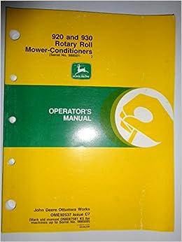 John Deere 920 930 Rotary Roll Mower Conditioner (s/n 988501