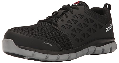 Reebok Work Men's Sublite Cushion Work RB4041 Industrial and Construction Shoe, Black, 14 W -