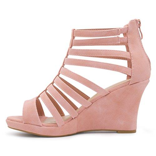 Premier-Standard-Womens-Gladiator-Inspired-Bird-Cage-Strappy-Wedge-Sandals
