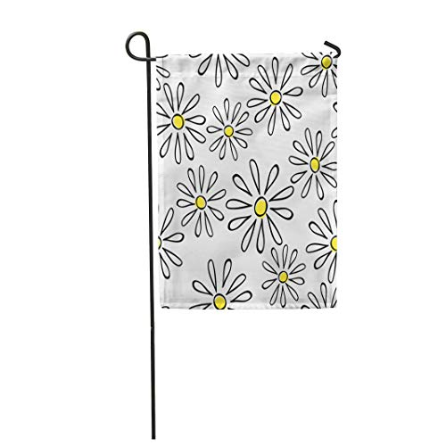 Blossom Camomile - Semtomn Garden Flag Pattern Chamomile Could Summer Abstract Bloom Blossom Camomile Cosmetic 28