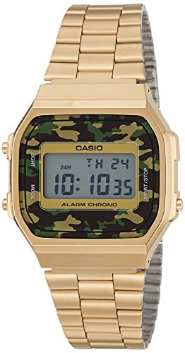 Casio Unisex Digital Fashion Quartz Watch A168WEGC-3D