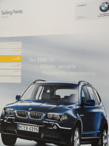 Price comparison product image 2004 BMW X3 Selling Points Sales Brochure