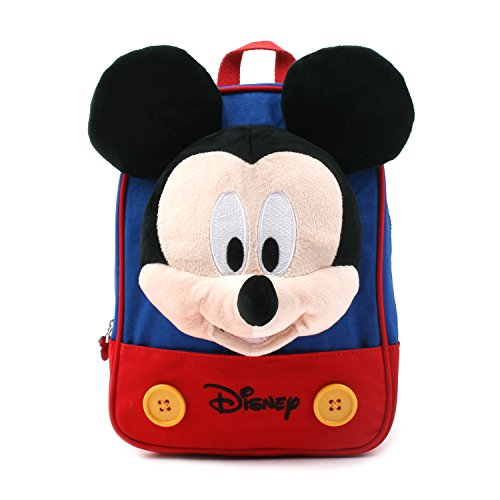 Mickey Disney Mouse Minnie (Disney Mickey Minnie Mouse Finger Backpack with a Removable Strap Safety Harness to Prevent Children from Going Missing (Blue Mickey))