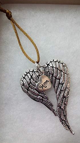 Mom Memorial Angel Wings Christmas Ornament In Memory Sympathy Bereavement Keepsake -