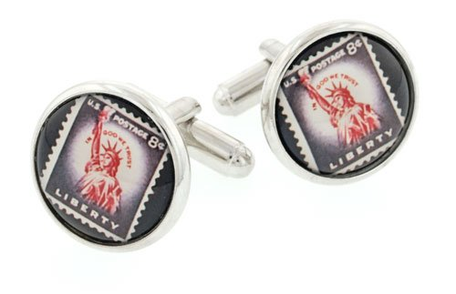 JJ Weston Statue of Liberty Stamp Image Cufflinks. Made in the (Stamp Link)