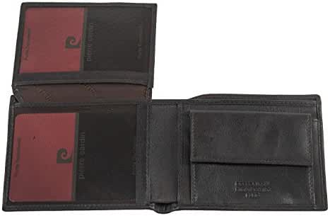 Wallet man PIERRE CARDIN moro in leather with patch and coin purse A5309