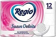 Regio Papel Higiénico Regio Suave Deleite 12S, Color, 12 Count, Pack Of aquete de