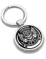 Sleutelhanger Motorsport Skull doodskop motorfiets metalen sleutelhanger auto Moto sleutel geschenk metalen sleutelhanger KK 177