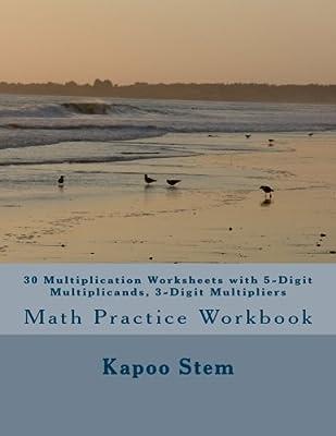 30 Multiplication Worksheets with 5-Digit Multiplicands, 3-Digit ...