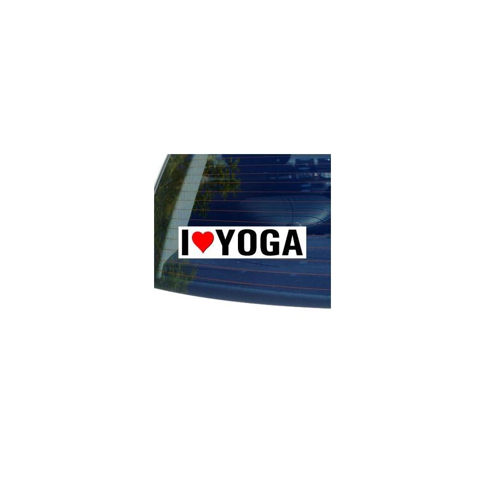 I Love Heart YOGA   Window Bumper Sticker