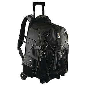 Ape Case Pro SLR Bag, Video Camera Backpack, Removable Cart, Rolling Backpack Travel Bag, Adjustable Harness, Laptop Backpack,  Hiking Camera Backpack, Any-Weather Cover, Travel Back Bag, Black