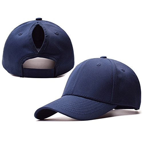 194c82f91f3 M Eshop Womens Ponycap Messy High Bun Baseball Cap Hat Ponytail (Navy)