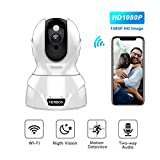 Home WiFi Camera 1080P HD Wireless IP Security Camera with Night Vision, Two-Way Audio, Motion Detection Alert, Remote Monitor for Home, Baby Room Review