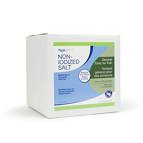 Salt Level Koi Pond - Aquascape 40003 Pond Salt Treatment for Pond and Garden Water Features, 40-Pound Bulk