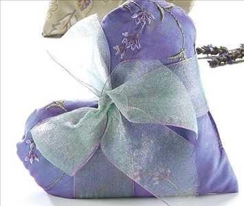 Sonoma Lavender Lilac Heart Sachets Embroidered Lavender