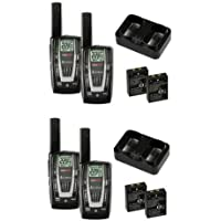 NEW! 2 PAIR COBRA CXR725 27 Mile 22 Channel FRS/GMRS Walkie Talkie 2-Way Radios