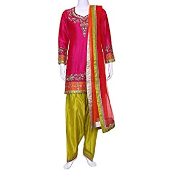 Kalaniketan Multi Color Festive Kameez & Salwar Set For Women