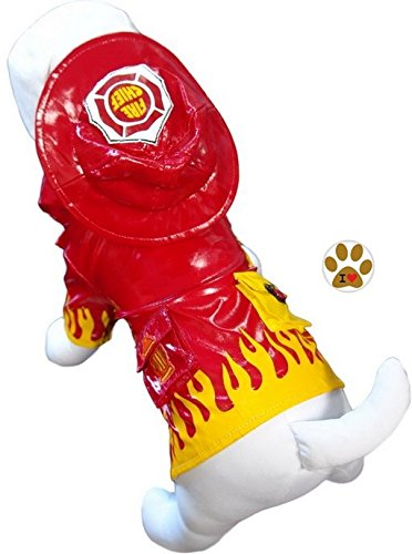 Fire Chief Dog Costume (