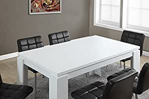 Monarch specialties white hollow core dining for Dining room table 60 x 36