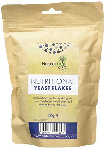Natures Root Hefeflocken 125g - Vegan | Glutenfrei | Salzfrei | Vitaminreiche | Beste Verkostung