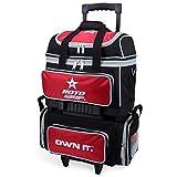 Roto Grip 4 Ball Roller Bowling Bag, Black/Red