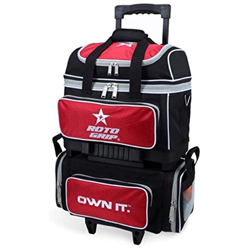 Roto Grip 4 Ball Roller Bowling Bag, Black/Red by Roto-Grip