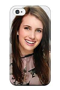 Best 8650807K66691081 Fashion Case For Iphone 4/4s- Emma Roberts?wallpaper Defender Case Cover