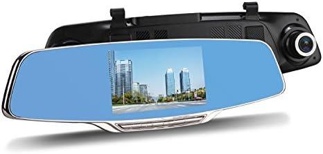 Espejo con el DVR-195 VORDON DVR, Graba en Calidad 1080p, Tiene un G-Sensor: la cámara se Enciende automáticamente Cuando registra un Choque Opciones de conexión para cámara de Marcha atrás.
