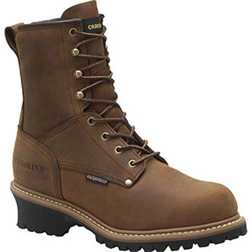 "Carolina Mens 8"" Steel Toe Waterproof Insulated Logger, Copper, 11 D US"