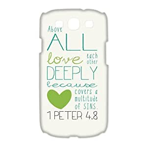 Custom Bible Verse Hard Back Cover Case for Samsung Galaxy S3(3D) OE-560