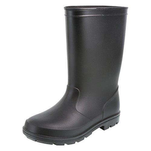 Pictures of Rugged Outback Black Kids' Solid Rain Boots 174112010 1