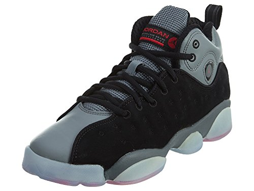 Jordan JORDAN JUMPMAN TEAM II PREM BG girls fashion-sneakers 861435-014_6Y - Black/Infrared 23-Cool Grey-Infrared 23 by Jordan