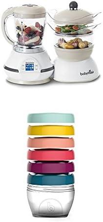 Babymoov Nutribaby Classic A001115 - Procesador de alimentos para bebés, color crema + Babymoov Babybols A004309 - Pack de 6 contenedores de conservación, tamaño 250 ml: Amazon.es: Bebé