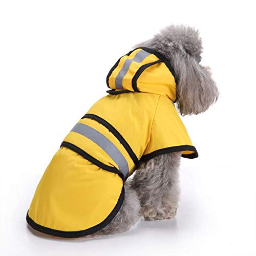 WarmHeaven Pet Dog Rain Slicker Reflective Adjustable Rain Poncho with Hood Waterproof Warm Extra Small XS Puppy Length:10.2