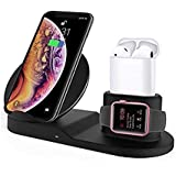Wireless Charger, 3 in 1 Charging Stand Qi Fast Wireless Charging Station Compatible