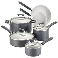 10-Piece Paula Deen Savannah Collection Hard Anodized Nonstick Cookware Set