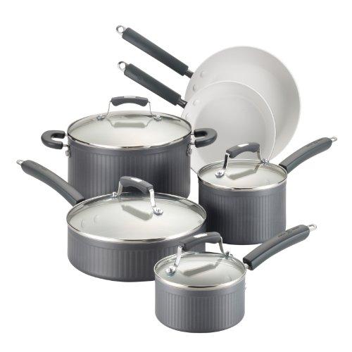 Paula Deen Savannah Collection Hard Anodized Nonstick 10-Piece Cookware Set